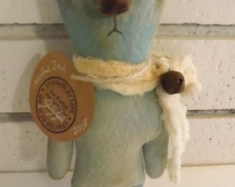 SALE,Bear Doll,Primitive Art Doll,Art Cushion Doll,Softie,Art Doll,Shabby Chic,Folk Art Doll,Folk Art,Ornie,Whimsical,Cloth Doll,Animal Art