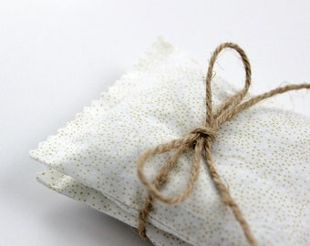 Organic Lavender Sachets Cream and Gold Bedroom Decor Unique Gift for Her