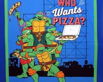 NEW! Teenage Mutant Ninja Turtles Fabric- TMNT Fabric- Who Wants Pizza Fabric From Springs Creative