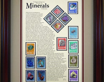 Minerals 2524 - Personalized Framed Collectible (A Great Gift Idea)