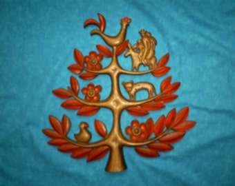 Vintage Syroco Tree of Life Wall Hanging.