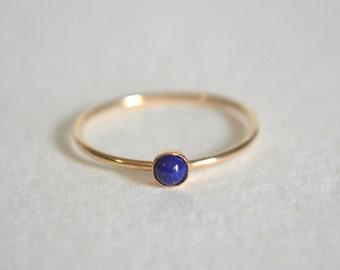 Gold Lapis Lazuli Ring, Gold Filled Lapis Lazuli Ring, Lapis Lazuli Ring Gold, Gold Lapis Ring, Stacking Ring, Stackable Ring