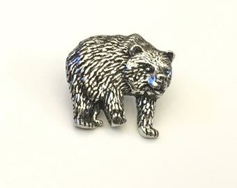 Bear Lapel Pin, Bear Tie Tack, Grizzly Tie Pin, Bear, Father's Day, Graduation Gift