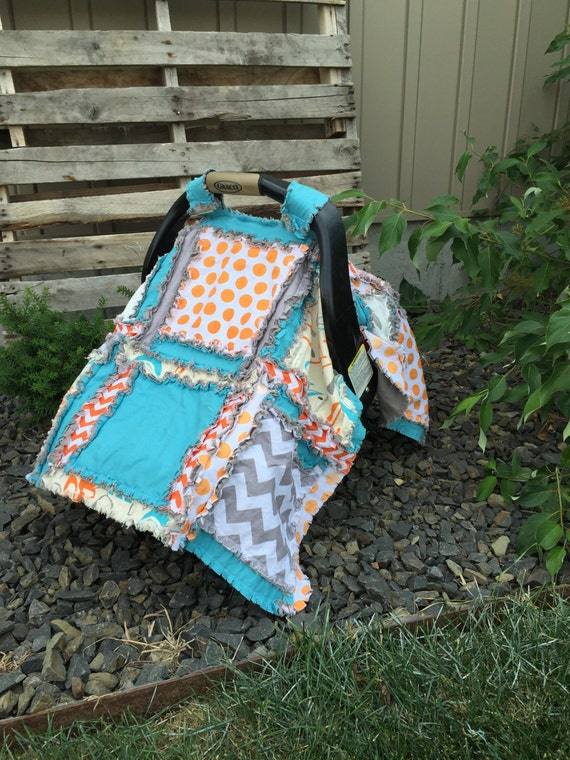 Car Seat Cover Pattern - Easy Peasy Rag Quilt Pattern- Baby Sewing ...