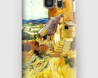 Case for Samsung S5, S6, S6 and S7, S7 + S8 S8 + A3, A5, J3, GP Note 4,5, 8, the old mill Van Gogh