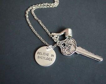 Believe in Sherlock Holmes inspired necklace
