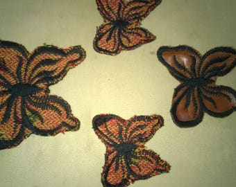 Set of 4 Butterfly appliques to sew