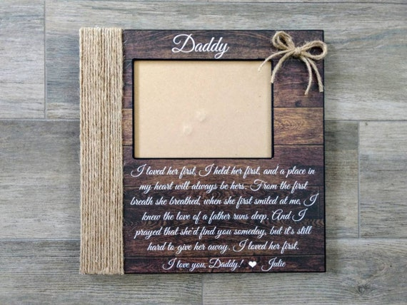 Personalized Song Lyric Picture Frame I Loved Her