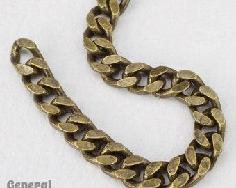 4.5mm x 4mm Antique Brass Flat Curb Chain #CC95