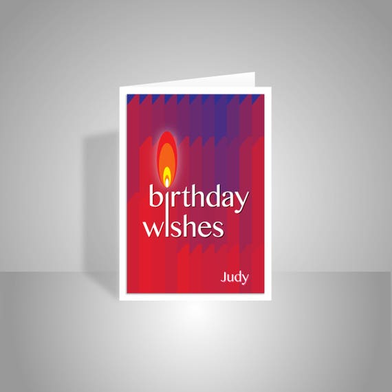 Personalised name happy birthday wishes card for her him like this item bookmarktalkfo Images