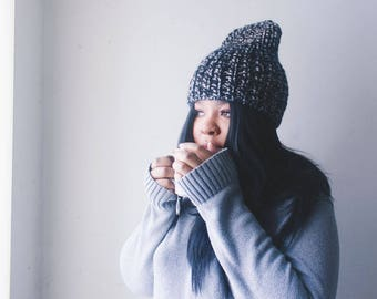 vegan chunky knit hat   Cloudsy hat