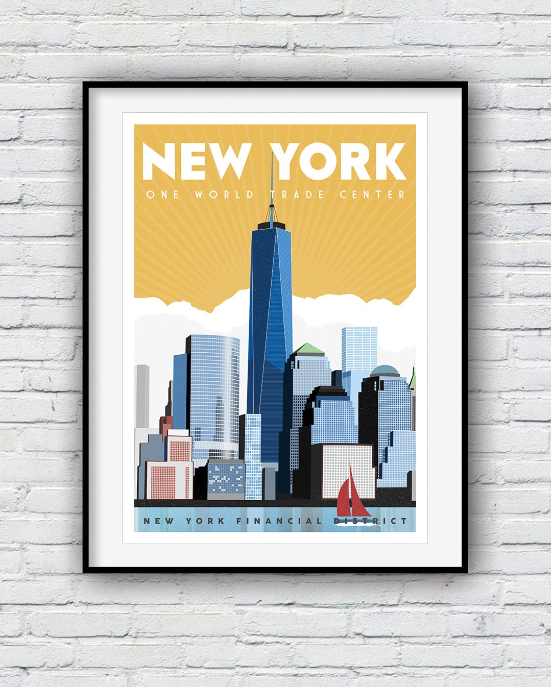 New York Print Travel Poster New York Poster New York