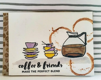 Coffee and friends card
