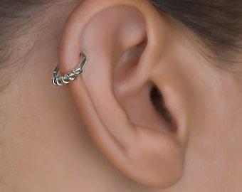 Silver Cartilage Hoop. Helix Hoop. Tragus Piercing. Cartilage Jewellery. Tragus Earring. Cartilage Earring. Helix Earring.