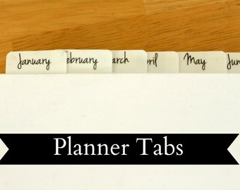 Self Adhesive Plastic Planner Tabs for Calendar (Months)