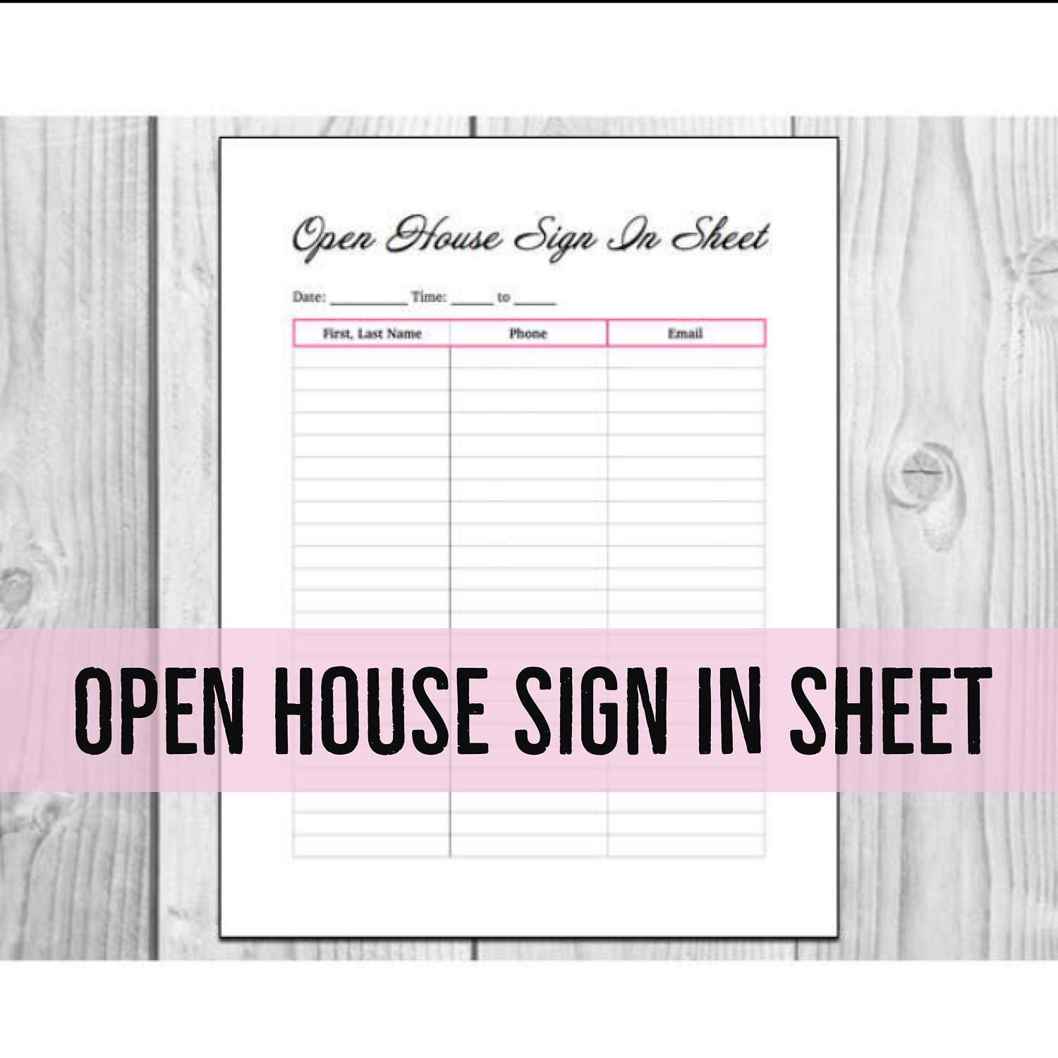 sign in sheet printable
