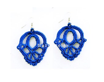 PDF Tutorial Crochet Pattern...Dangle Earrings