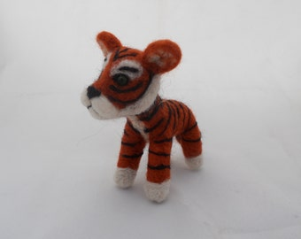 Custom Tiger - needle felted origonal puppy soft sculpture.- small size