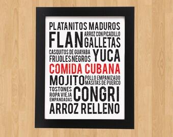Cuban Food Poster Art - (PDF File ONLY) - 11x17