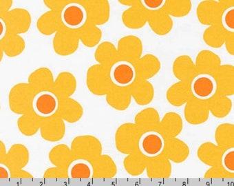 Remix Wide - Flower Cornsilk Marigold Orange 108 Inches Wide by Ann Kelle from Robert Kaufman