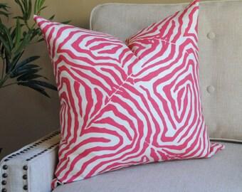 Designer Print-Pillow Cover-20x20-Animal Print-Pink-White-SPRING