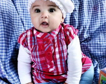 0 to 3m White Newborn Hat Baby Pom Pom Hat Girl Beret Hat Baby Shower Gift White Baby Hat Pom Pom Baby Hat Beret Prop
