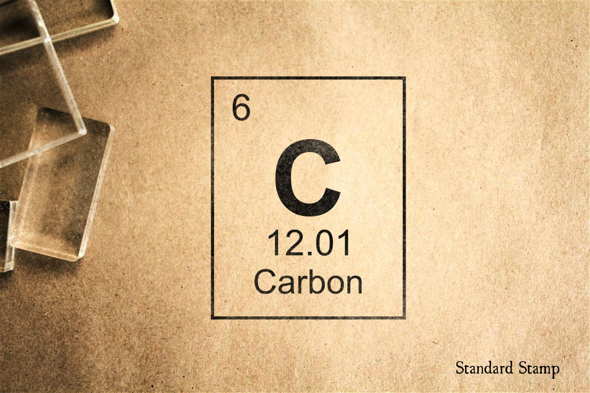 Carbon periodic table rubber stamp 2 x 2 inches zoom urtaz Gallery