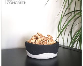 Concrete snack bowl