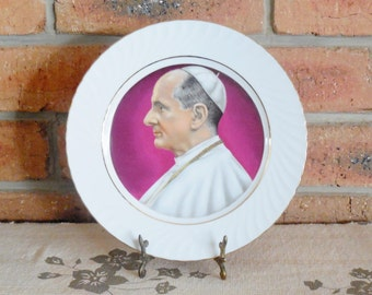 Pope Paul VI commemorative porcelain collector's plate by Westminster Australia