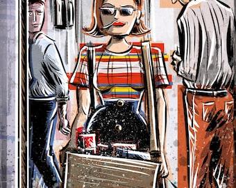 Peggy Olson, Mad Men, Art Print, Peggy Olsen,lost horizon, madmen, Joe Badon Elisabeth Moss Don Draper Sterling Cooper Ad Advertising AMC