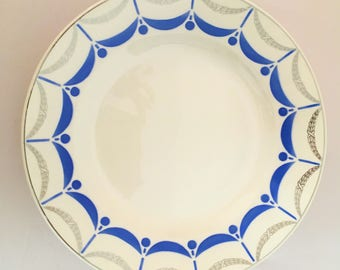 Serving dish / compote, round cake stand digoin sarreguemines 50s series Mills