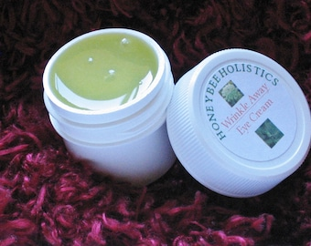 Organic Under Eye Cream made with Organic Jojoba & Organic Carrott Seed Essential Oil - 1/2 oz. in BPA free jar - reduce fine lines