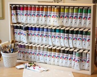 Jo Sonja Paint Tube Storage RackWooden Paint Storage RackPaint Tube Storage RackJo Sonja Paint Tube StorageCraft Room Paint Storage & Craft Paint Storage Rack Holds 81 2 oz Bottles of Paint