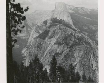 vintage photo 1955 Yosemite Half Dome Square Snapshot