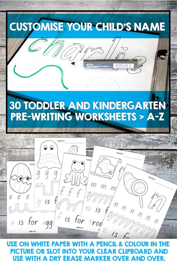 Toddler and Kindergarten pre-writing tracing worksheets