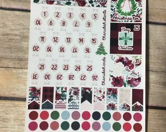 December Date Stickers