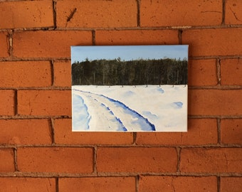 Oil Painting On Canvas Winter Scene (no frame)