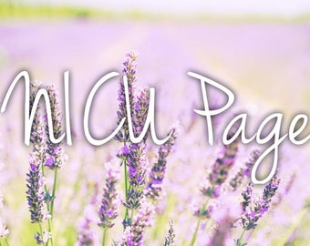 NICU Page Baby Book