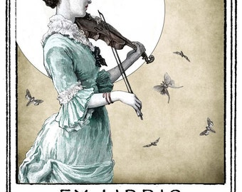 Lizette The Night Fiddler Bookplates (Personalized or Blank)