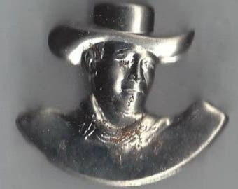 Vintage Novelty Western Style Cowboy Children's Toy Tin Pin, 1950s