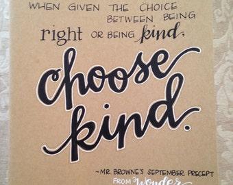 Customized, Handwritten, Extra Large Moleskine Cahier Notebook, Choose Kind, Wonder