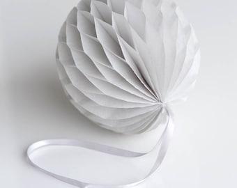 Mountain mist Tissue paper honeycomb ball-hanging wedding party decorations-paper lantern-birthday decor-round paper ball-nursery decor-grey