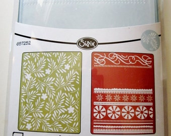 Branches Swirls and Ribbons 657252 Sizzix Christmas Embossing Folder 2-PK Set