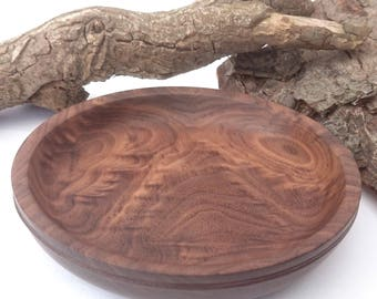Walnut Bowl with a leather trim