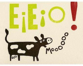 EIEIO--limited edition letterpress print