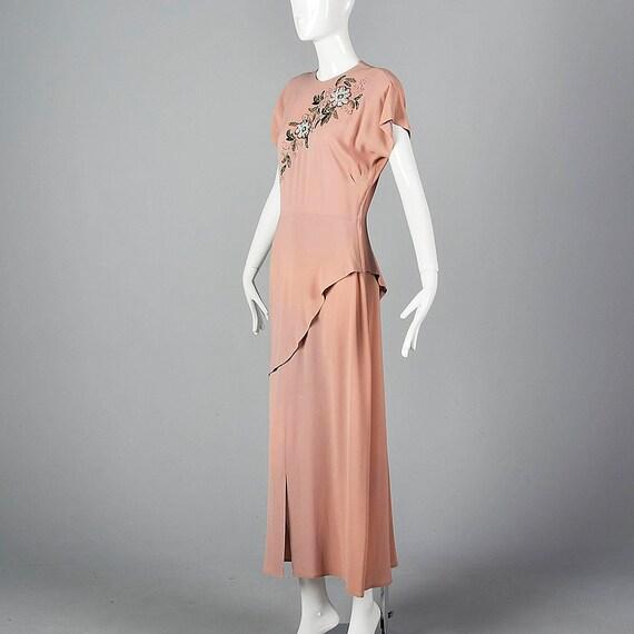 Dress Vintage Old Elegant Hollywood Neckline Gown Dress Glamour 40s ...