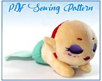 PDF Sewing Pattern- Sleepy Kuttari Mermaid Plush
