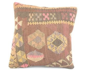 COJIN KILIM KARS, Turkish pillow case cushion cover .kilim, K 12