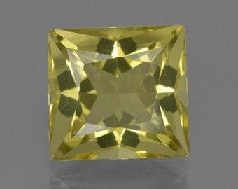 Lemon quartz 9mm square princess cut lot (10 pcs)