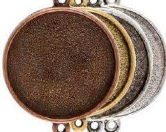 Grande großen Kreis Anhänger Doppel-Loop 2 Ringe - Harz Collage Rahmen - Harz Tray - Harz Blank - hochwertige Verarbeitung